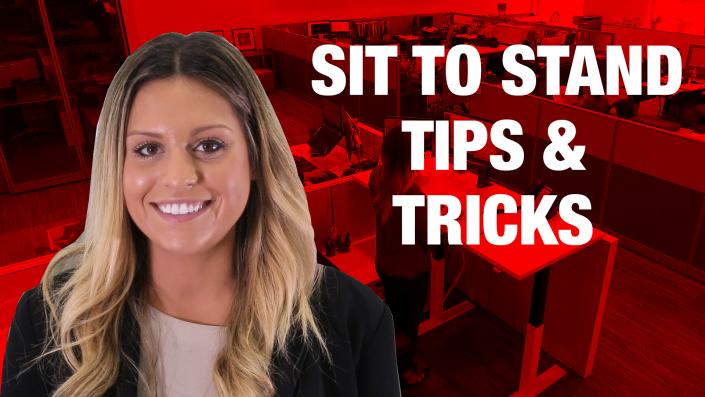 Sit to Stand Tips and Tricks Video Height Adjustable Desks Battle Unhealthy Sedentary Office Life