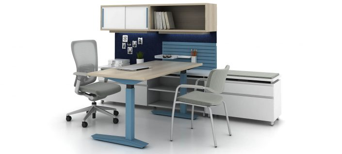 Compose Systems Furniture Planes Height-Adjustable Table