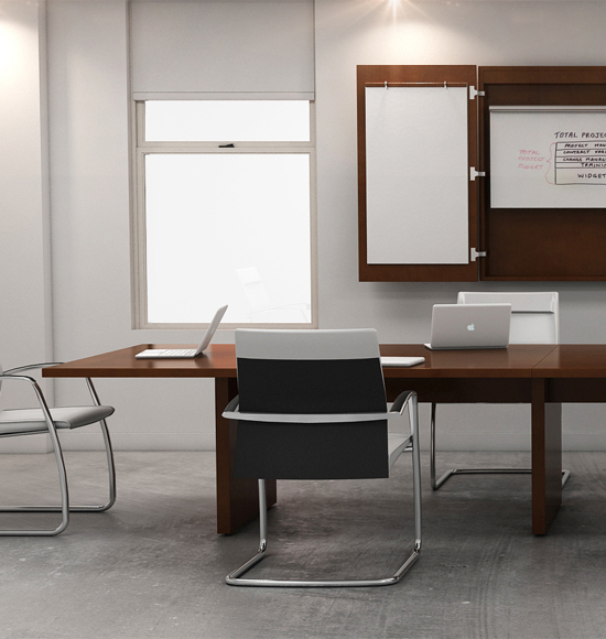 Haworth Executive Wood Conference Table