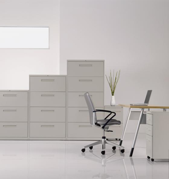 Haworth V Series Storage