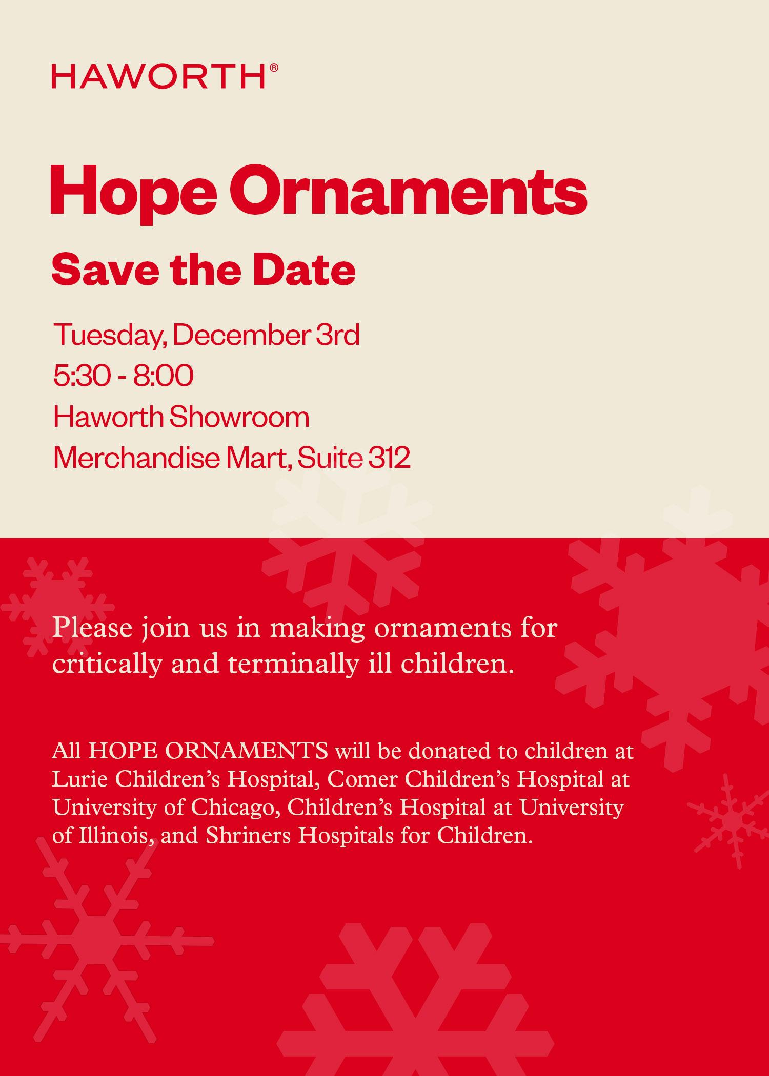 haworth ornaments event